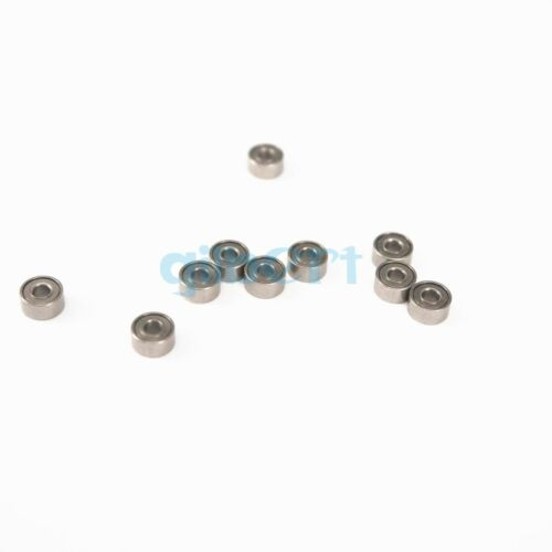 3 x 8 x 4mm Micro Shielded Deep Groove Ball Model Radial Bearing 693zz 100