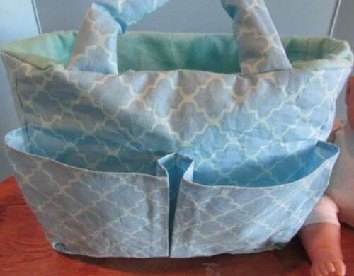 handmade baby doll diaper bag berenguer//american bitty baby LT BLUE