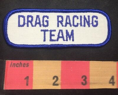 Red /& Blue Border Versions DRAG RACING TEAM Patch Car Race Jacket Patch O00B