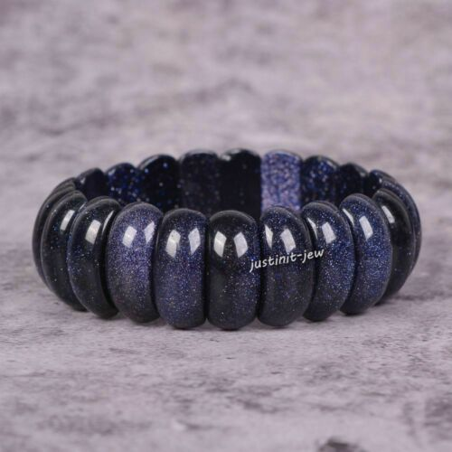 """Lot de choix * 25 mm pierres précieuses Perles Extensible Bracelet 7/"""""""