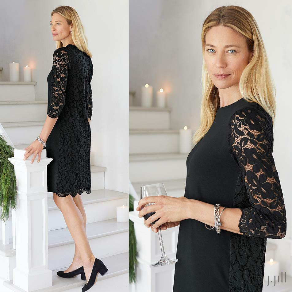 J. Jill - S -  The Wearever Collection  Luxurious Lace-Back Dress - NWT