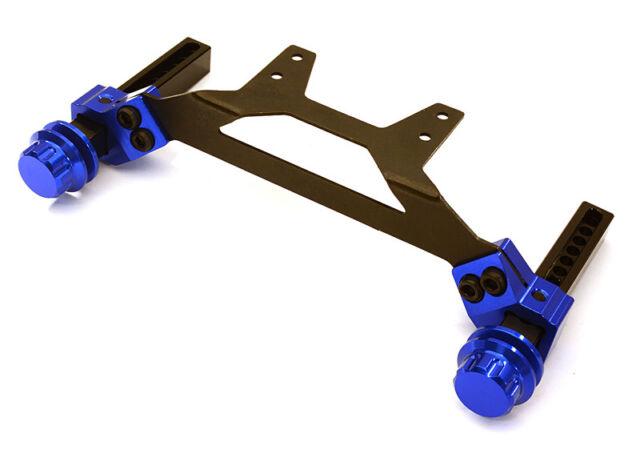 Integy Adjustable Rear Body Mount /& Post Set for Traxxas 1//10 Slash 2WD Blue