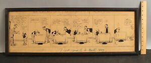 1912 Antique & Authentic MUTT & JEFF Cartoon Comic Strip Drawing by BUD FISHER