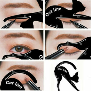 Cat-Eye-Line-Eyeliner-Stencil-Liner-Model-Template-Makeup-Eyebrow-Tool-Kit