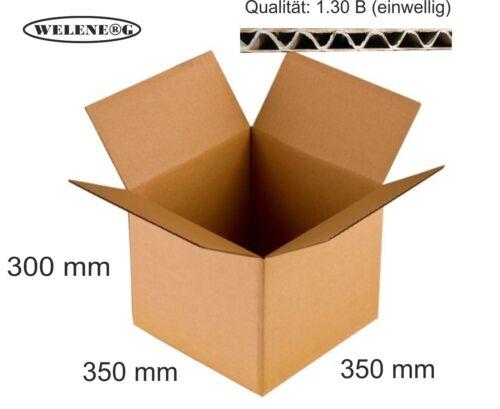 20 ASTUCCI 350x350x300mm b-410g//m2 Spedizione Cartone diversità cartoni Marrone