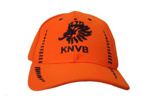 HOLLAND ORANGE KNVB LOGO BLACK ON BRIM FIFA WORLD CUP EMBOSSED HAT CAP..NEW
