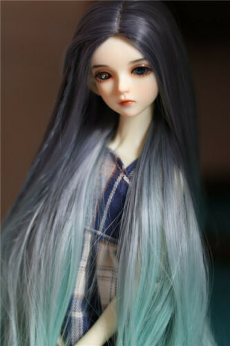 Middle and long straight hair wig For 1//3 1//4  BJD Doll