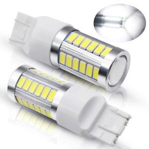 2X-T20-6000K-White-7443-7440-5630-33SMD-LED-Dome-Map-Car-Backup-Reverse-Lights