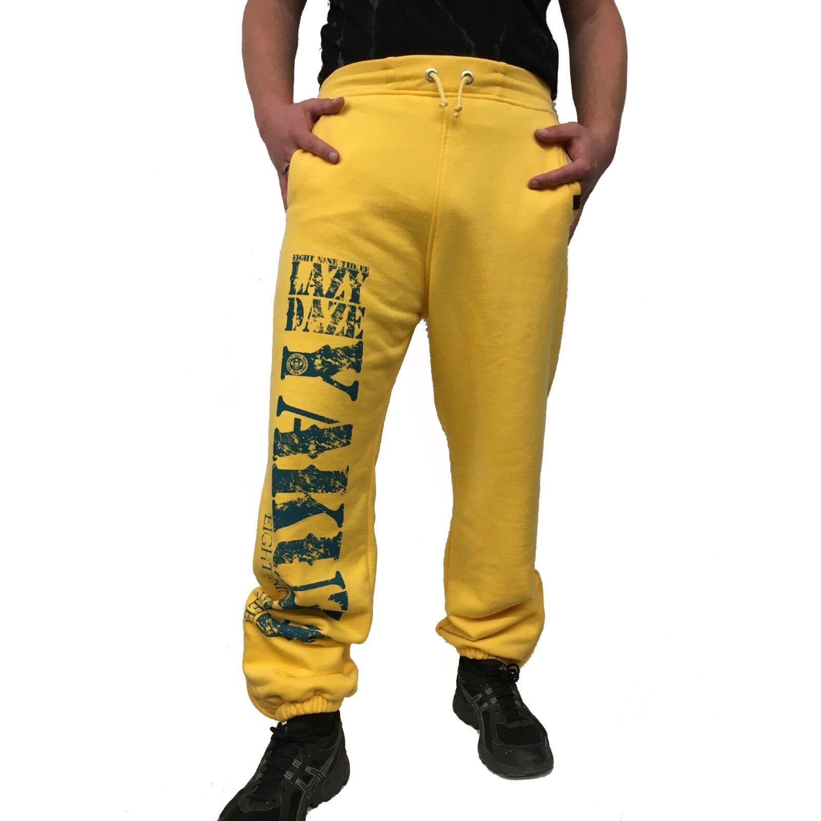 YAKUZA - Herren Jogginghose JOB 7034  Lazy Daze  banana cream (gelb)