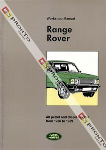 FACTORY WORKSHOP SERVICE REPAIR MANUAL BOOK LAND RANGE ROVER PETROL DIESEL 86-89