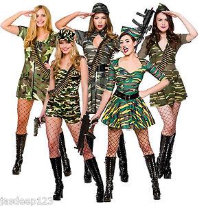 La imagen se está cargando Ejercito-militar-para-mujeres -Sexy-Vestido-de-fantasia- 7f4a540fe9f