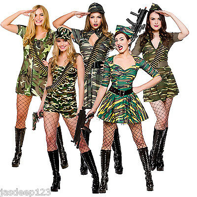 Corporal Cutie Ladies Fancy Dress Army  Costume Halloween