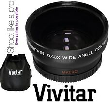 Vivitar HD4 Optics Wide Angle With Macro Lens For Canon XF100