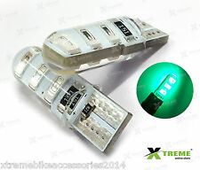 2pcs 6smd 5w Jelly T10 Green Parking LED for TVS Scooty Pep Plus