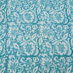 Indian Handmade Floral Print 100/% Pure Cotton Fabric Indian Hand Block Print Cotton Fabric Natural Printed Handmade Sanganeri Vintage