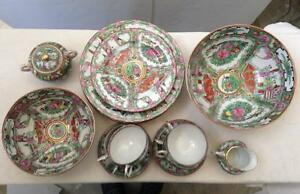 Image is loading JAPANESE-PORCELAIN-WARE-DECORATED-IN-HONG-KONG-China- & JAPANESE PORCELAIN WARE DECORATED IN HONG KONG China 26 Piece Tea ...