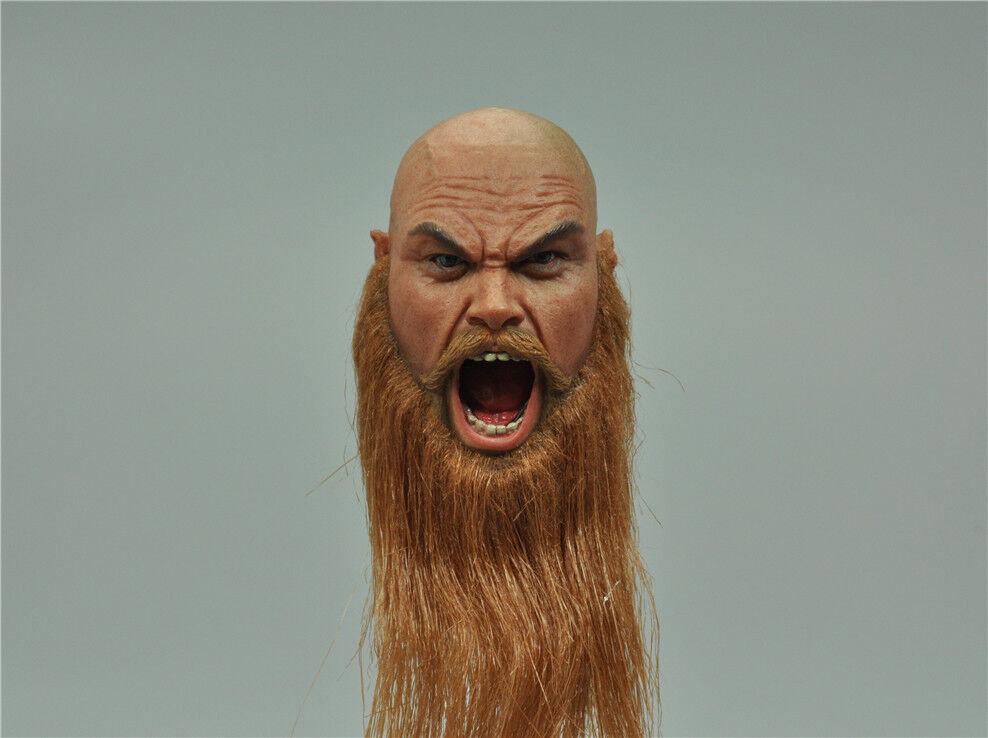 Head Sculpt for COOMODEL SE017 VIKING VANQUISHER — BERSERKER 1/6 12