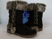 White Mountain Size 10 M Brown Suede Mid Calf Boots Womens Shoes