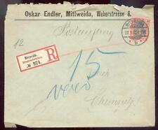 DR 1900 59 R-BRIEF POSTAUFTRAG MITTWEIDA 100€(B0294
