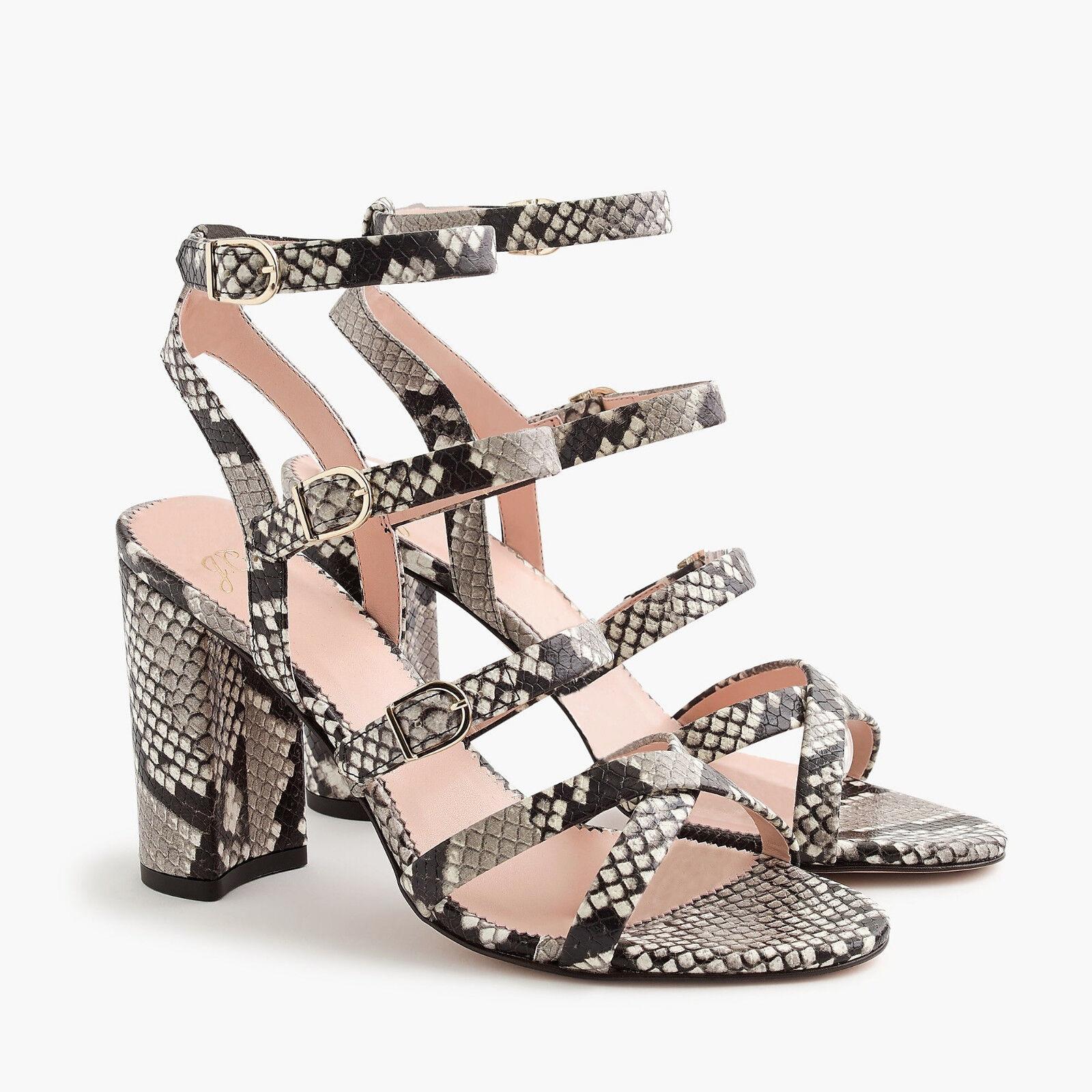J CREW Bucklat High High High -Heel Sandal i Faux Snakeskin 6.5 NWB  248 J8204 klackar  försäljning med hög rabatt