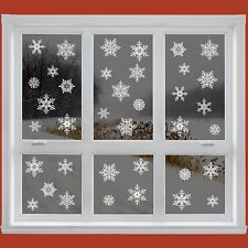 42 Elegant Snowflake Window Clings Reusable Stickers Christmas Decorations Decal