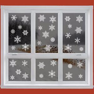 42-ELEGANTE-Snowflake-finestra-si-aggrappa-Riutilizzabile-Adesivi-decorazioni-Natale-decalcomania