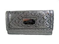 Guess Women's Burbank Slg Trifold Clutch Pewter Wallet