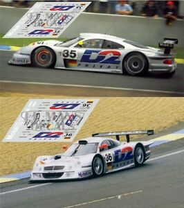Audacieux Calcas Mercedes Clk Lm Le Mans 1998 35 36 1:32 1:24 1:43 1:18 Slot Decals Suppression De L'Obstruction