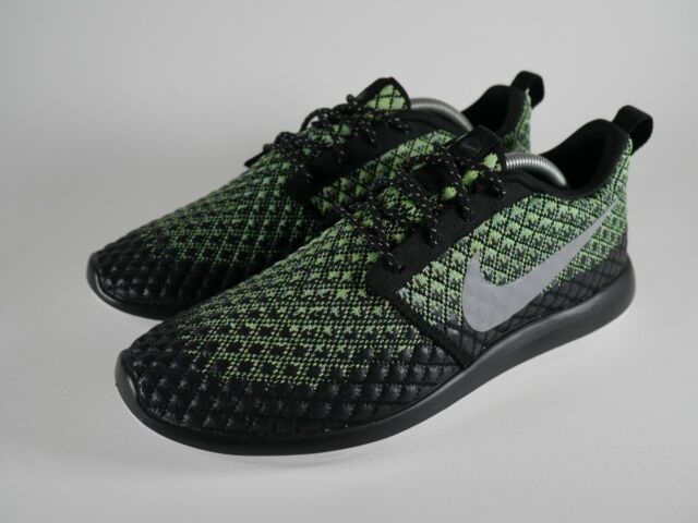 sports shoes 5f858 85f5e Mens Nike Roshe Two Flyknit 365 Black Running Trainers 859535 700