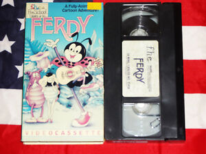 Ferdy-VHS-The-Great-Adventures-of-Ferdinand-Cartoon-Sekora-Video-Rare