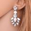 1Pair-Elegant-White-Feather-Shape-Crystal-Resin-Ear-Stud-Eardrop-Dangle-Earring thumbnail 2