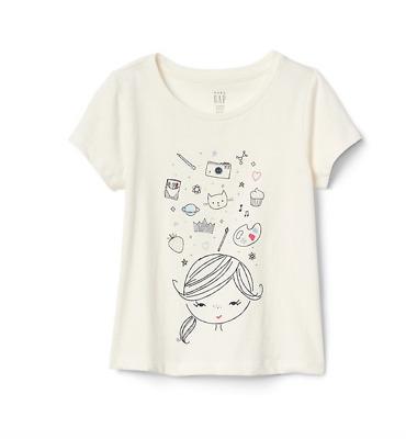 GAP BABY GIRL Love Graphic Long Sleeve T-Shirt NWT N5 2T 3T