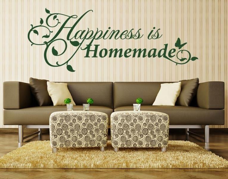 Happiness Is Fait à la Maison - Autocollant Mural Stickers