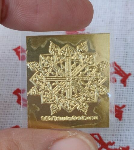 Sheet gold Takrud Yant It ti Pi so 8 Thit LP Thai Amulet add luck Protect Life