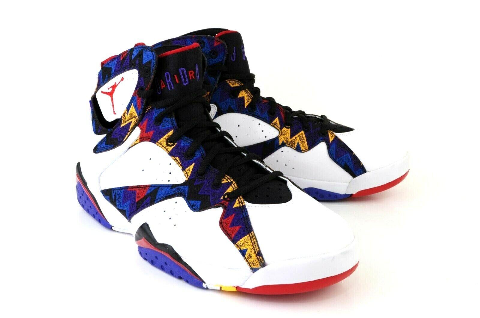 Nike Air Jordan 7 Mens SZ 12 White University Red-Black Sweater shoes 304775-142