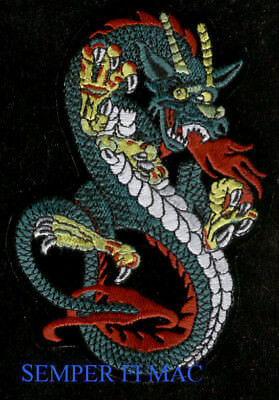 YEAR OF THE DRAGON 2012 PATCH BIKE KARATE USS US NAVY MARINES ARMY AIR FORCE WOW