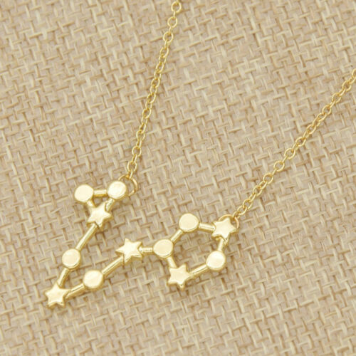 1 Pc Zodiac Sign Astrology Necklace Constellation Jewelry Star Sign Pendant
