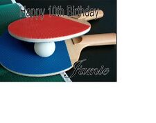 Table Tennis Ping Pong Birthday card Personalised A5
