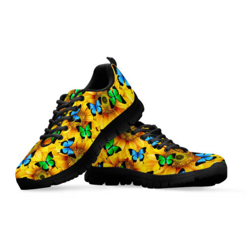 Custom Design Shoes Sunflower Butterfly Women/'s And Children/'s Sneakers