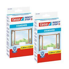 2x tesa Fliegengitter Insektenschutz weiß 1,3x1,5m Fenster Klettband Standard