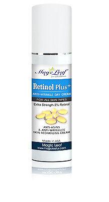 NEW 2% RETINOL DAY CREAM Anti Aging Moisturizer Facial Serum  Anti Wrinkle Cream