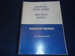 isuzu 6rb1 6rb1t engine workshop service shop repair book manual ebay rh ebay com 1988 Isuzu Trooper isuzu 6rb1 workshop manual