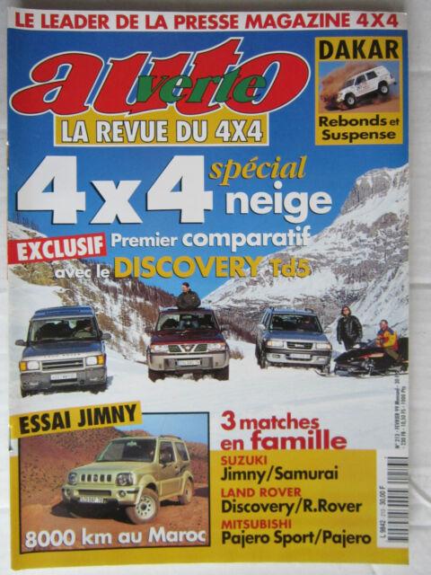 AUTO VERTE 4X4 N° 213 /DISCOVERY TD5 sur neige/ESSAI JIMNY/DAKAR