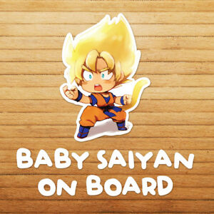 Baby-Saiyan-on-Board-Chibi-Goku-Dragon-Z-Die-Cut-Car-Window-Decal-Sticker