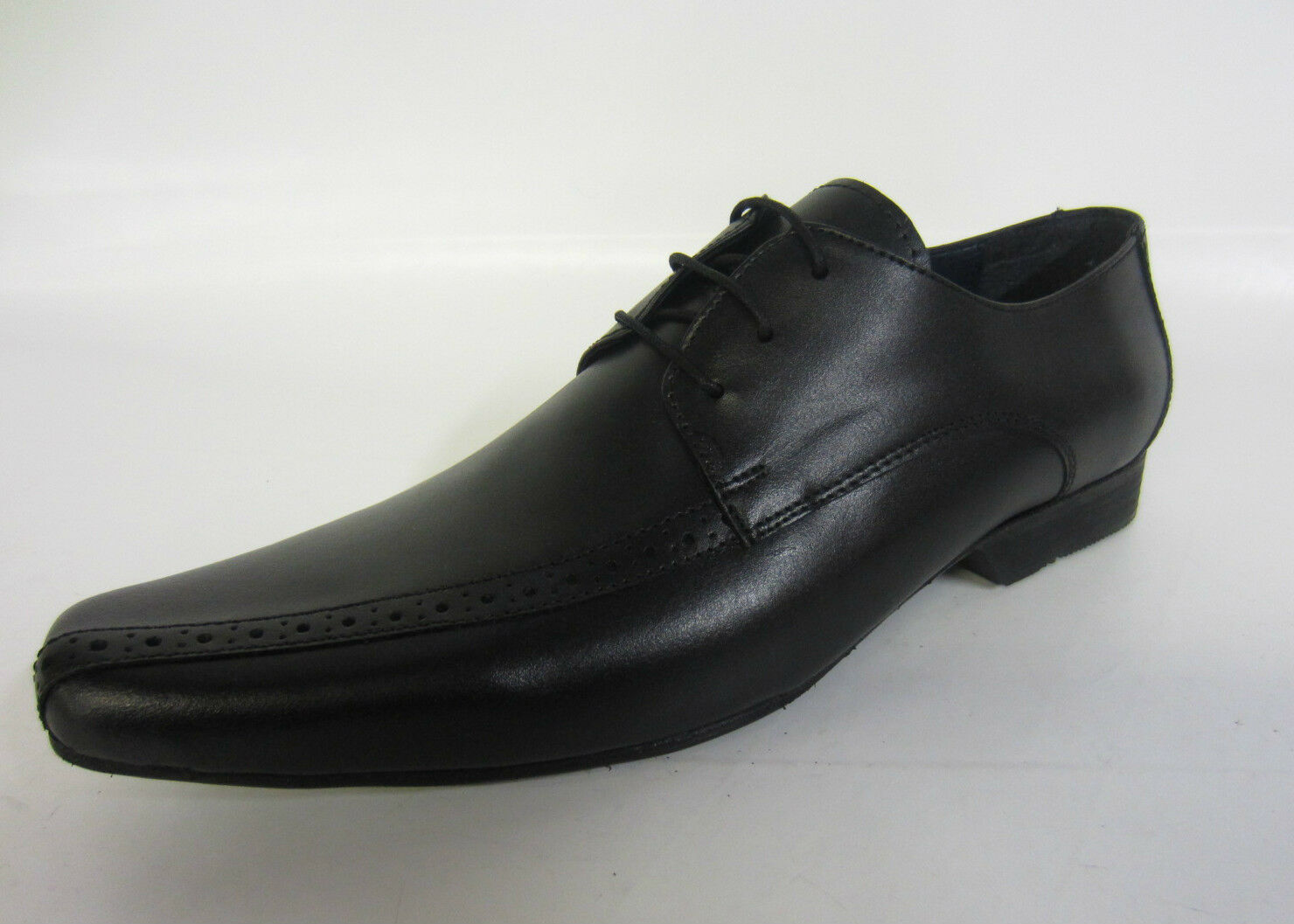 Mens PSL Style Black Leather Formal Shoes- Style PSL -RED02B sizes 91a94f