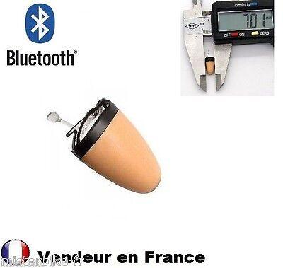 Mini Oreillette Bluetooth Espion Invisible Sans Fil Micro 0,8 gramme / 7 mm
