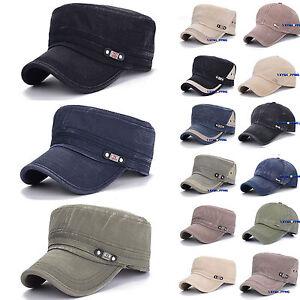 c489e1c3018fed Military Hat Army Cadet Patrol Castro Flat Cap Men Women Golf ...