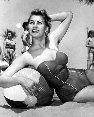 Film Actress SOPHIA LOREN Glossy 8x10 Photo Beach Famous Model Print Poster