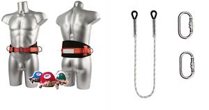SET-Sicherheitsgurt-Haltegurt-1-5m-Seil-Kletterausruestung-Baumpflege-Fallschutz