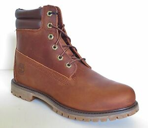 Timberland-Women-039-s-6-Inch-Style-8305R-Waterproof-Double-Sole-Collar-Boots-Brown